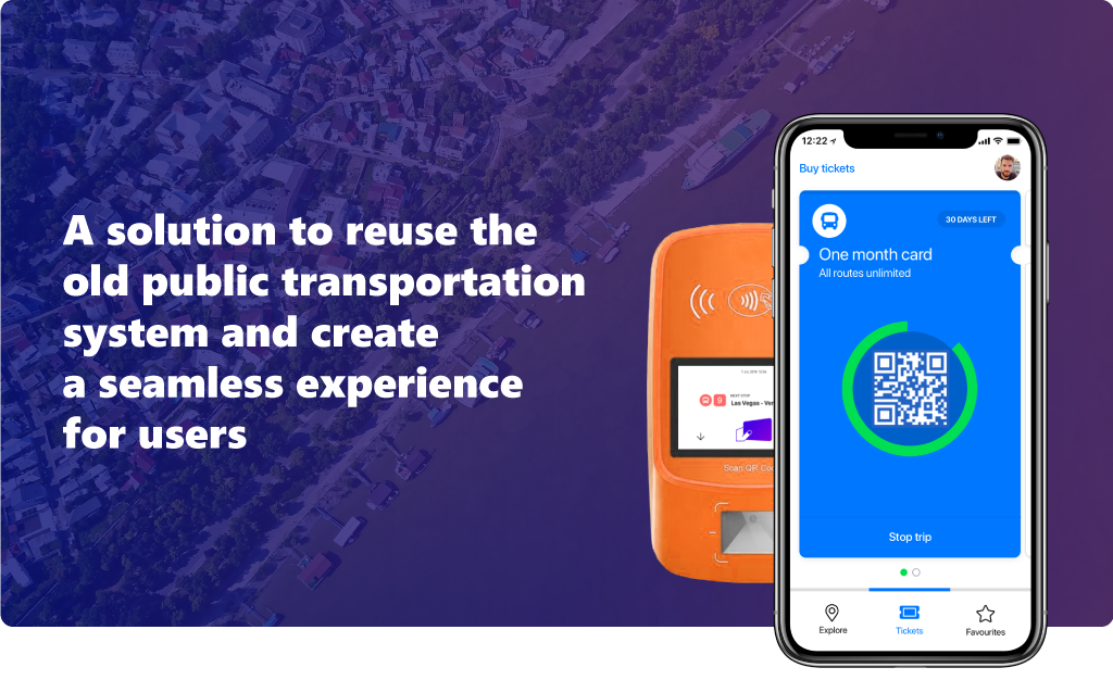 A solution to reuse the old public transportation system and create a seamless experience for users