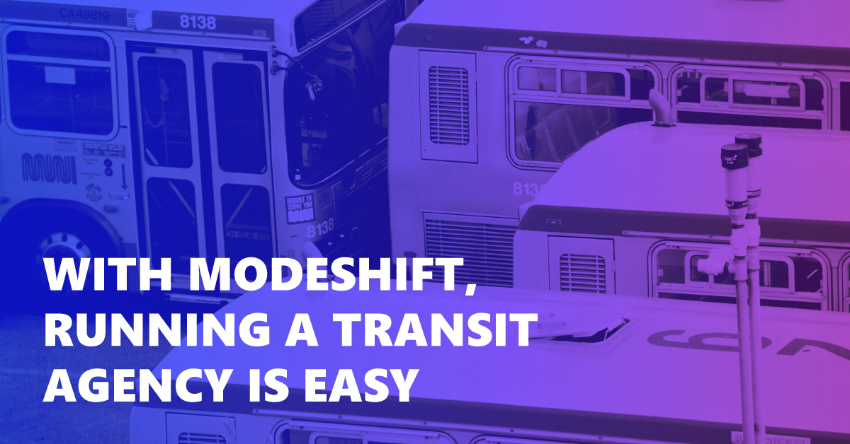The Modeshift CAD & AVL Systems: Public Transit Running Smoothly